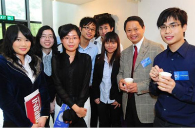 Mr Winston Chan (second from the right) with FIFE Fund recipients