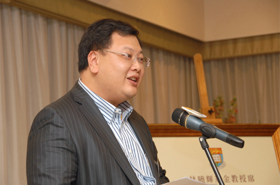 """""""The University of Hong Kong has nurtured many generations of medical elites. It is my hope that the establishment of this Endowed Professorship will help fuel the research and development in the field of Paediatric Cardiology, and further empower the professional development of medical science."""" Mr Bryan Lin"""