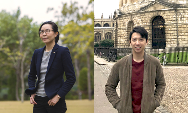 Cora (left) and Brian (right) are prime examples of ''like teacher, like student''. Both graduated from the HKU Faculty of Law, received an HKJC Scholarship, and studied the same programme at the University of Oxford.