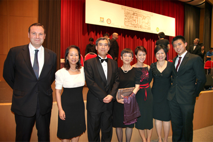 (From left to right) Mr Stephen Mckeever, Ms Lynn Yau (HKU alumna), Professor Keith Luk, Mrs Katherine Luk, Ms Amanda Yau, Mrs Catherine Yau and Mr Charles Yau at the inauguration of the Arthur Yau Memorial Fund in Orthopaedics during the 50th anniversary of the Department of Orthopaedics and Traumatology.
