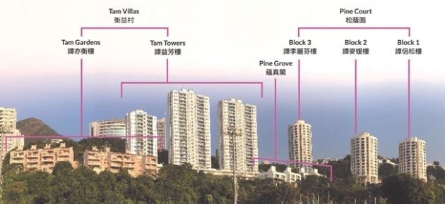 Senior staff quarters on Sha Wan Drive.