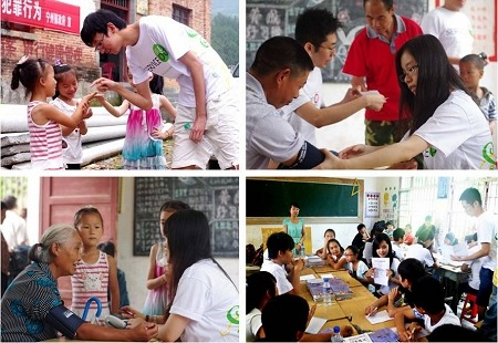 Students carried out field studies and service in Jiangxi