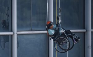 Record-breaking climb inspires hope for Paraplegics